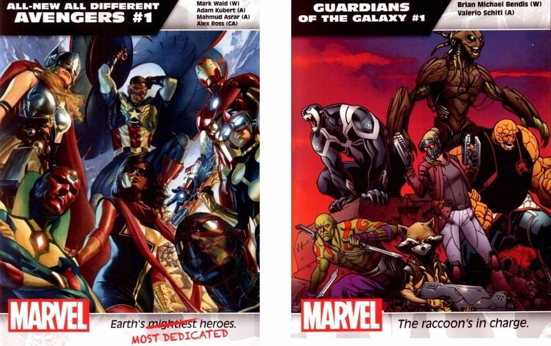 Filtradas 45 portadas de nuevos comics de Marvel
