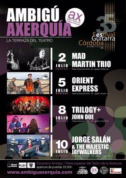Cartel de los conciertos en Ambigú Axerquía