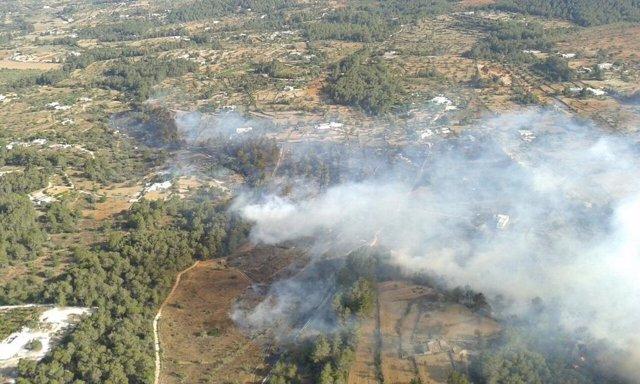 Incendio en Sant Joan (Ibiza)