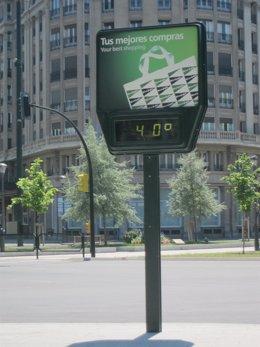 Los termometros llegarán a los 40 grados en Zaragoza.