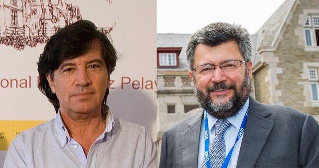 Carlos López Otin y Efim Zelmanov