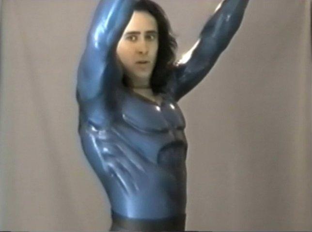 Prueba de traje de Nicolas Cage en el Superman Lives de Tim Burton