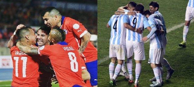 Chile y Argentina en la final