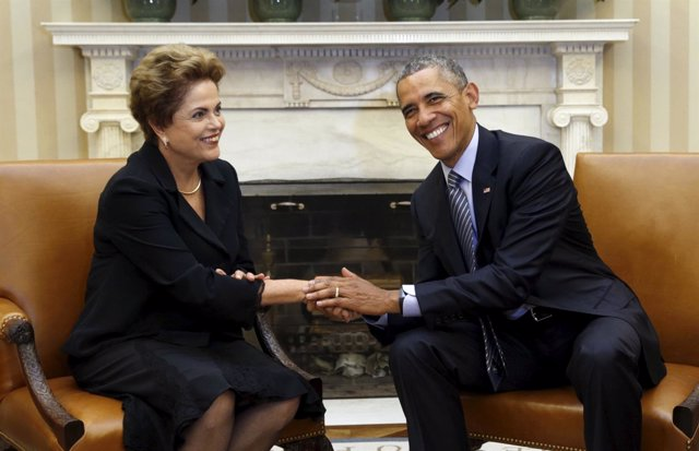 Obama y Rousseff en Washington