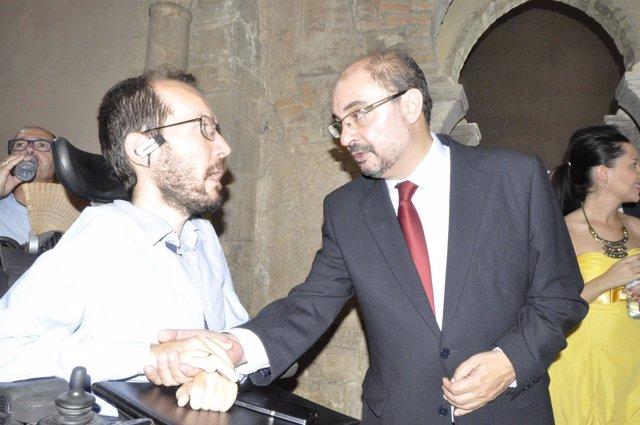Echenique (Podemos) y Lambán (PSOE)