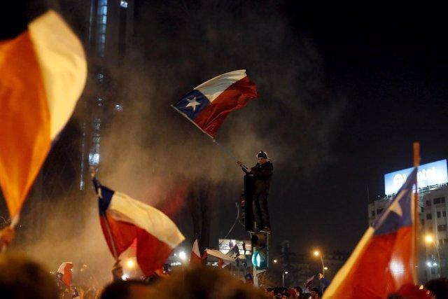 Celebraciones en Chile por la Copa América