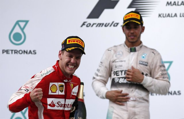 Vettel Hamilton Malasia