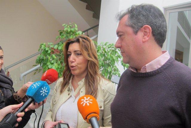 Susana Díaz  con Juan Espadas (PSOE) en Sevilla