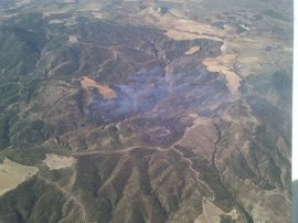 Reactivado el incendio de Quesada por condiciones meteorológicas extremas