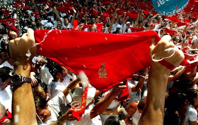 Pañuelo Rojo de San Fermín, Sanfermines