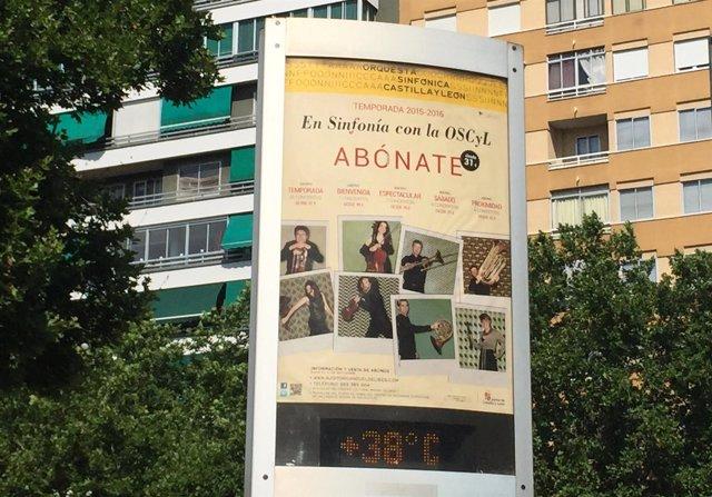 Termómetro. Calor. Valladolid