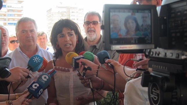 La secretaria general de Podemos en Andalucía, Teresa Rodríguez.