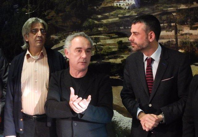 Juli Soler, Ferran Adrià y Santi Vila