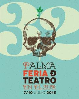 Cartel de la Feria de Teatro en el Sur de Palma del Río