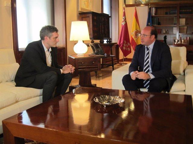Reunión entre Urralburu y Pedro Antonio Sánchez en San Esteban
