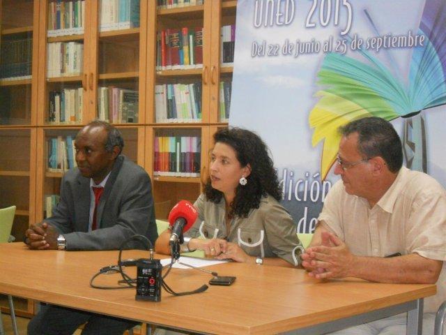 Basem Saleh, Inmaculada Vivas y Antonio Pérez en la inauguración del curso