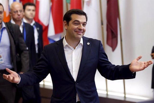 Tsipras en el Eurogrupo