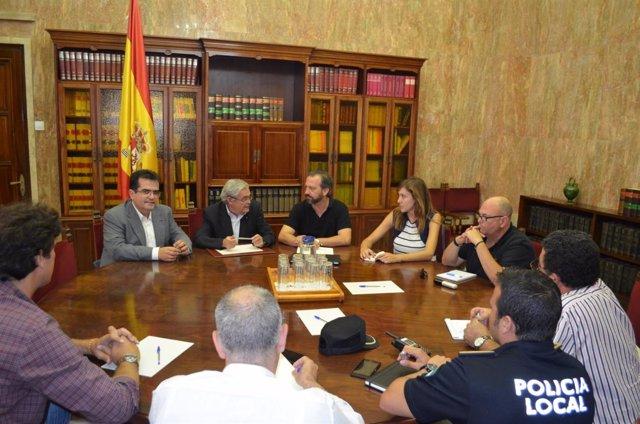 Reunión de coordinación del dispositivo de seguridad del casting