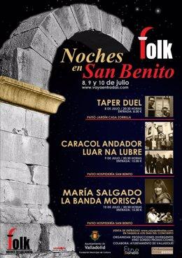 Cartel promocional de las Noches de San Benito