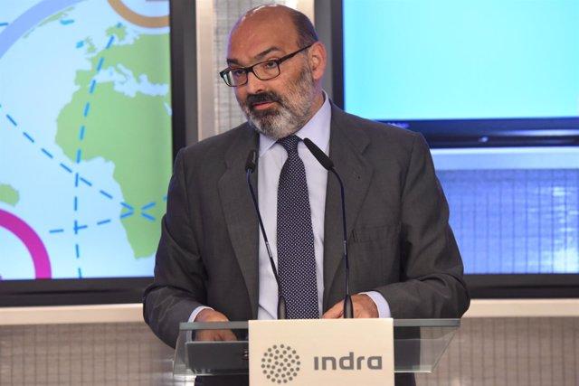 Presidente de Indra, Fernando Abril-Martorell, durante la Junta de Accionistas
