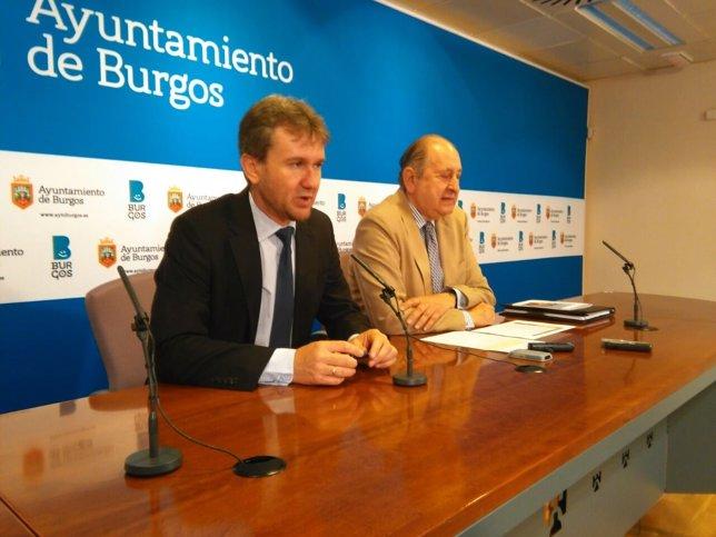 Lacalle y Plaza anuncian la presencia de la Reina en Burgos