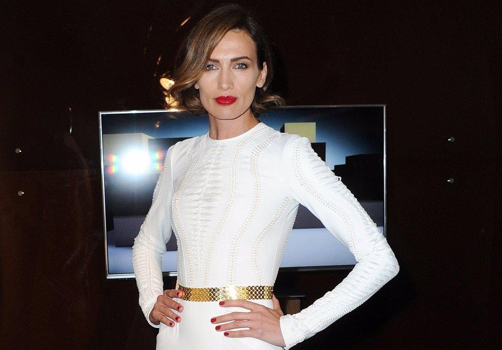 Model Nieves Alvarez attends the Stephane Rolland show as part of Paris Fashion