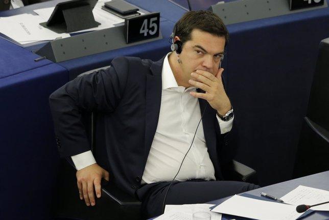 Tsipras en el Parlamento Europeo