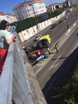 Accidente este miércoles en Conxo