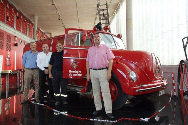 Los bomberos de Palma y Endesa