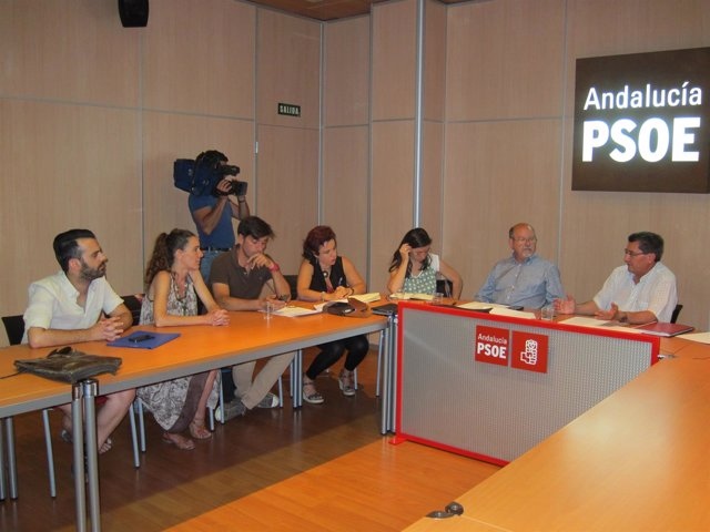 Reunión entre PSOE y Vamos Granada.