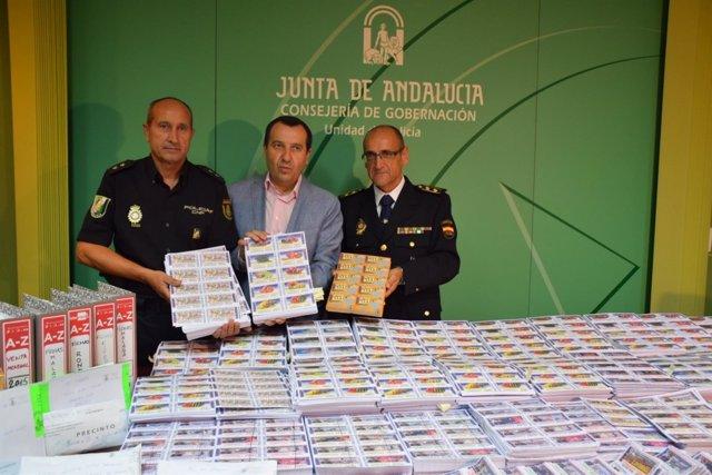 El delegado del Gobierno andaluz en Málaga, José Luis Ruiz Espejo boletos OID