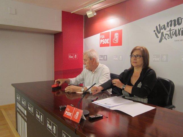 Braga y Escudero durante la rueda de prensa.