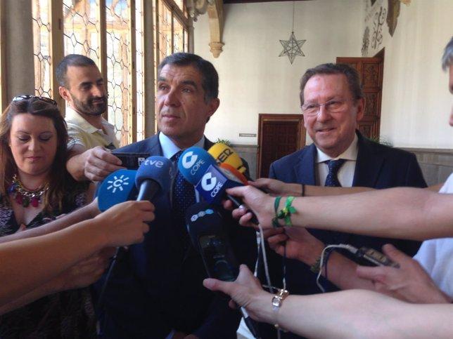 Presidente de TSJA, Lorenzo del Río, y consejero Emilio De Llera