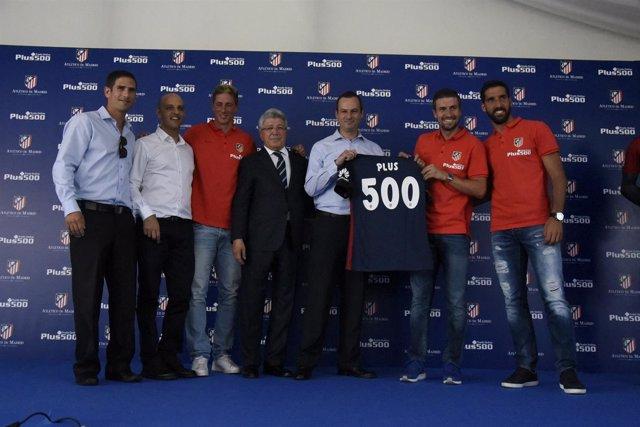 Plus 500, nuevo patrocinador del Atlético Madrid