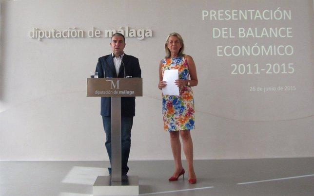 Elías Bendodo y María Francisca Caracuel en Diputación Málaga