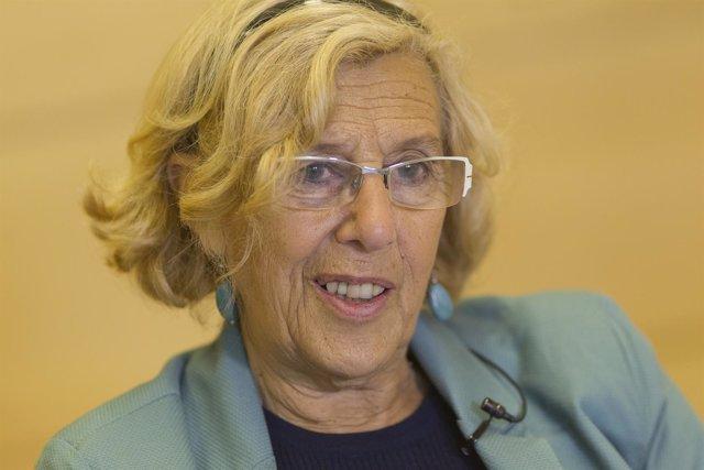 Manuela Carmena en una entrevista a Europa Press