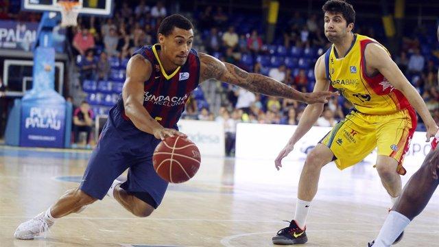 Edwin Jackson jugando contra el Morabanc Andorra