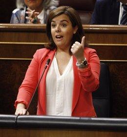 Soraya Saez de Santamaría en el Congreso