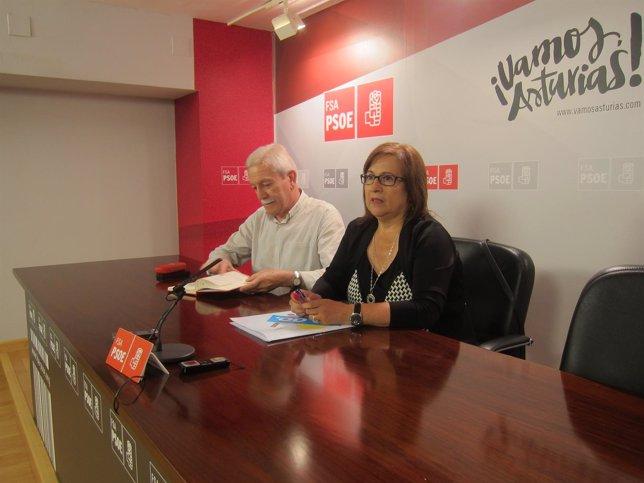 Braga y Escudero en rueda de prensa.