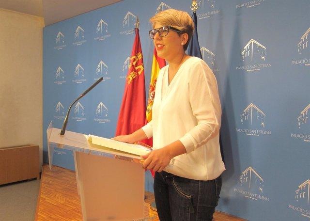 La portavoz del Gobierno, Noelia Arroyo, en rueda de prensa posterior Consejo