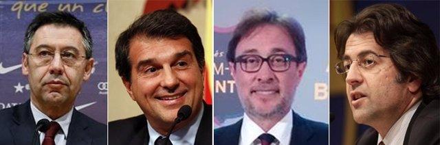 Bartomeu, Laporta, Benedito y Freixa, candidatos a la presidencia del Barcelona