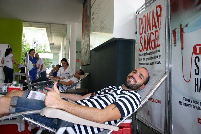 Imagen de la donación de sangre en el Hospital Mesa del Castillo