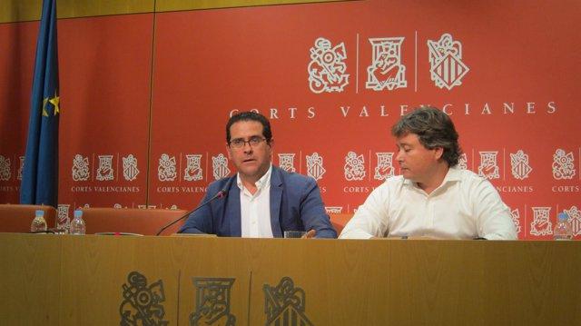 Jorge Bellver y Luis Santamaría en rueda de prensa