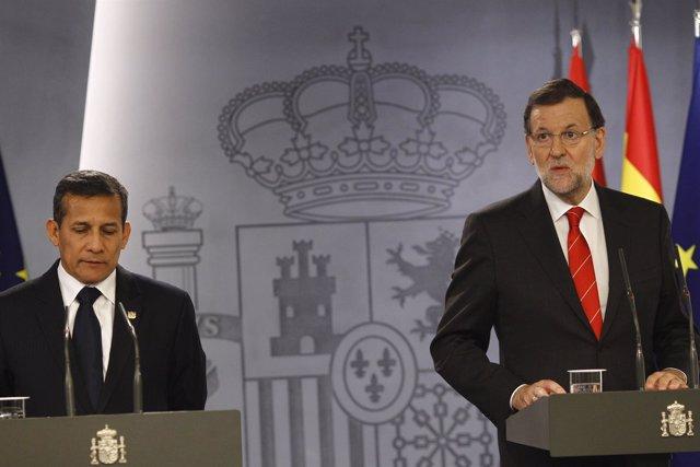 Mariano Rajoy y Ollanta Humala en la Moncloa