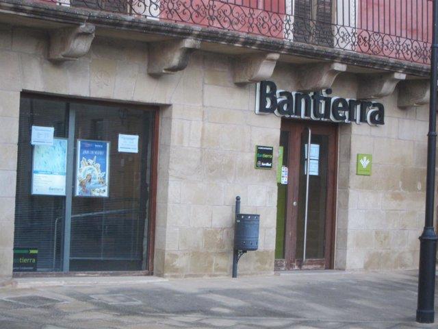 Una de las oficinas de Bantierra