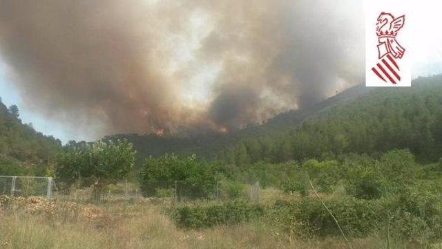 Incendio de Montán