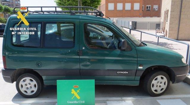 Imagen del vehículo recuperado en Burgos