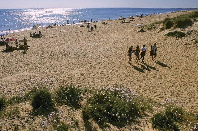 Imagen de la playa de Punta Umbría (Huelva).