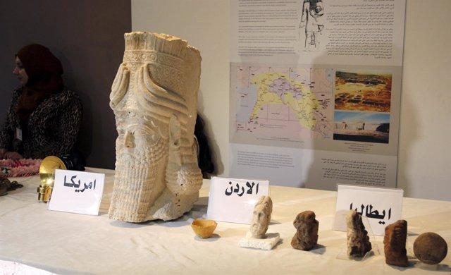 Antigüedades recuperadas en Irak