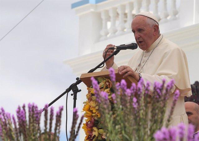 El Papa Francisco en el Santuario de El Quinche